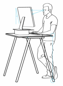 Standing desk diagram